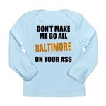 Baltimore Baseball Long Sleeve Infant T-Shirt