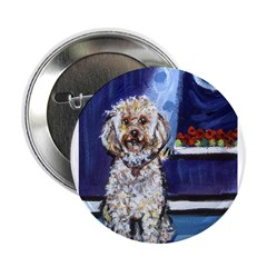 COCKAPOO unique dog art Button