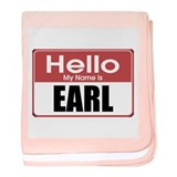 Earl Name Tag baby blanket