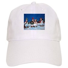 Snowman Holiday Baseball Cap