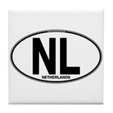 Netherlands Euro Oval (plain) Tile Coaster