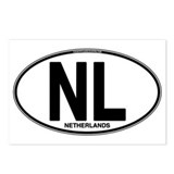 Netherlands Euro Oval (plain) Postcards (Package o