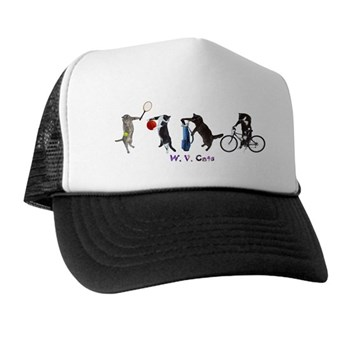 Sports Cats Mesh Backed Hat
