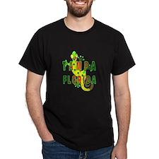 Tampa Florida Lizard Black T-Shirt