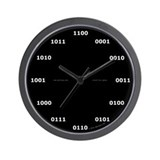 Binary clock - black Wall Clock