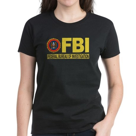 FBI Federal Bureau of Investigation Women's Dark T