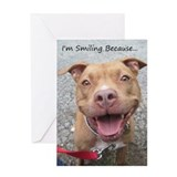 Unique Pit bull Greeting Card