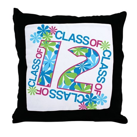 Class 2012 Blossoms Throw Pillow