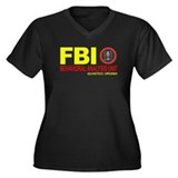 Criminal Minds FBI BAU Women's Plus Size V-Neck Da
