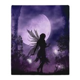 Fairy throw Fleece Blankets