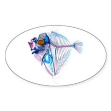 Blue Fish Sticker (Oval)