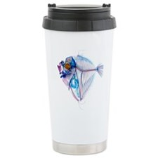 Blue Fish Stainless Steel Travel Mug