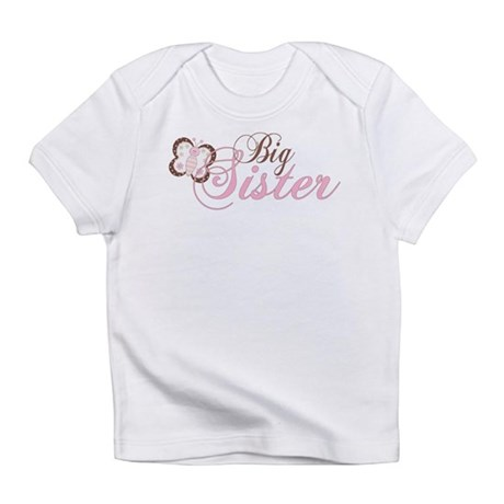 Pink Butterfly Big Sister Infant T-Shirt