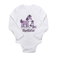 Sock Pony Duo Big Sister Long Sleeve Infant Bodysu