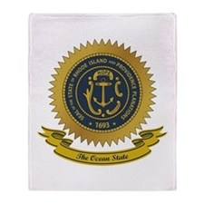 Rhode Island Seal Throw Blanket