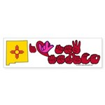 ILY New Mexico Sticker (Bumper 10 pk)