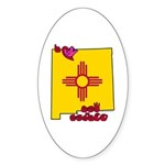 ILY New Mexico Sticker (Oval 50 pk)