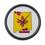 ILY New Mexico Large Wall Clock