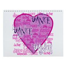 Dance Purple Brocade Wall Calendar