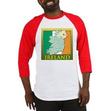 Ireland Map and Flag Baseball Jersey