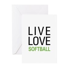 Live Love Softball Greeting Cards (Pk of 20)