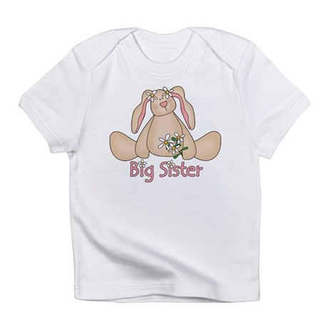 Daisy Bunny Big Sister Infant T-Shirt