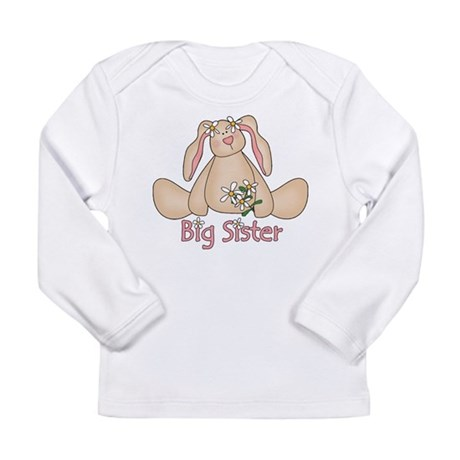 Daisy Bunny Big Sister Long Sleeve Infant T-Shirt