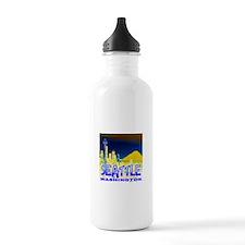 Seattle WA Golden Skyline Sports Water Bottle