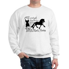 Big Black Horse Jumper