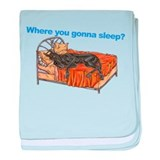 CBlk Where you gonna sleep baby blanket