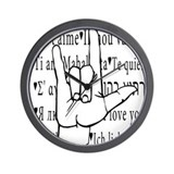 I Love You, ASL Wall Clock