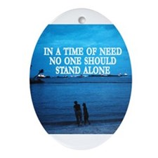 no stand alone Oval Ornament