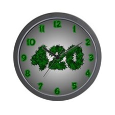 420 Marijuana Leaf Wall Clock
