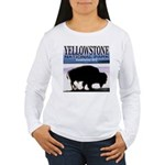 Bison Yellowstone National Pa Women's Long Sleeve