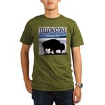 Bison Yellowstone National Pa Organic Men's T-Shir