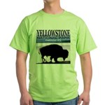 Bison Yellowstone National Pa Green T-Shirt