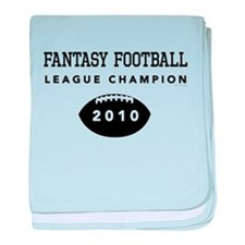 Fantasy Football League Champ baby blanket