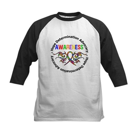 Autism Hope Awareness Kids Baseball Jersey