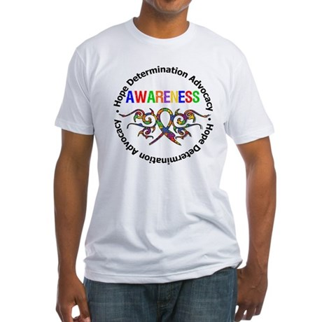 Autism Hope Awareness Fitted T-Shirt