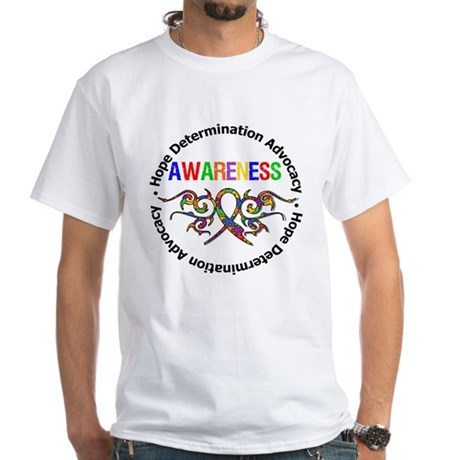 Autism Hope Awareness White T-Shirt