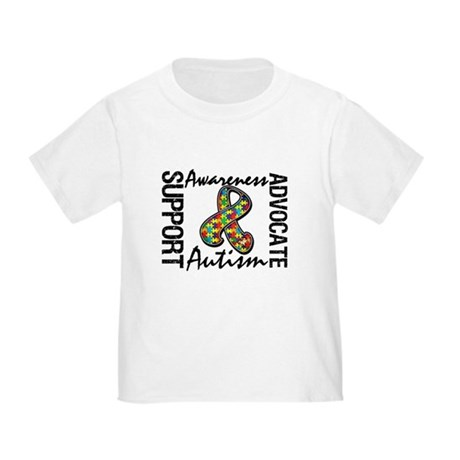 Autism Support Ribbon Toddler T-Shirt