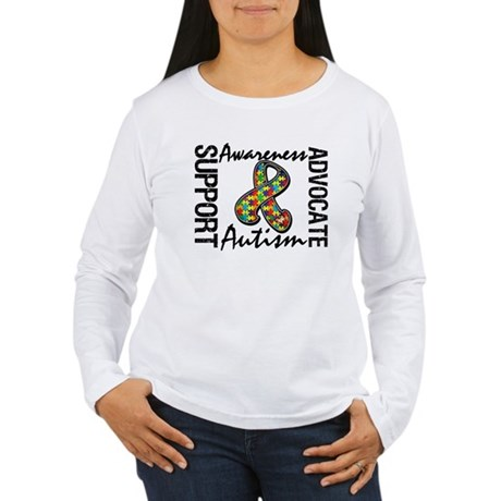 Autism Support Ribbon Women's Long Sleeve T-Shirt