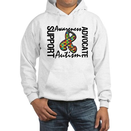 Autism Support Ribbon Hooded Sweatshirt