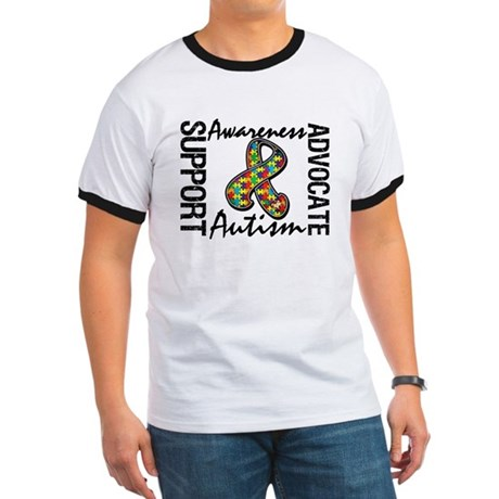 Autism Support Ribbon Ringer T