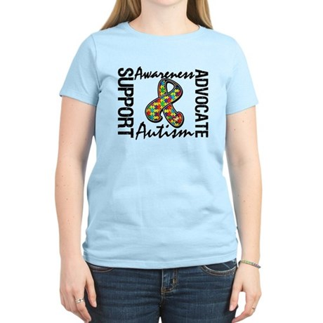 Autism Support Ribbon Women's Light T-Shirt