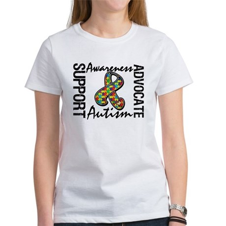 Autism Support Ribbon Women's T-Shirt