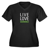 Live Love Goldendoodles Women's Plus Size V-Neck D