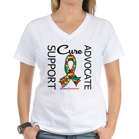Autism Support Trendy Women's V-Neck T-Shirt
