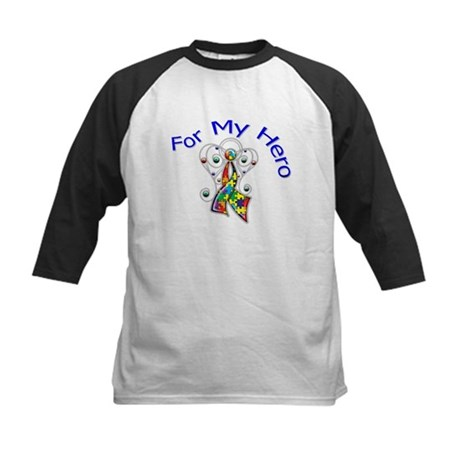 Autism For My Hero Kids Baseball Jersey