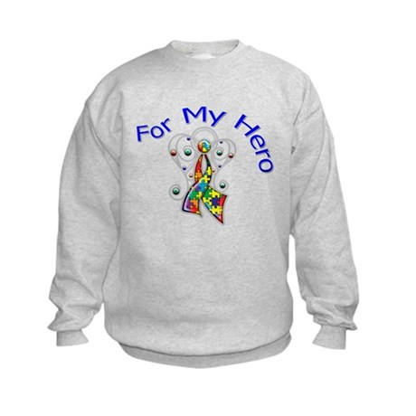Autism For My Hero Kids Sweatshirt